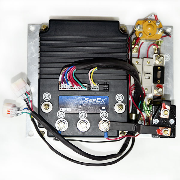 programmable curtis dc sepex motor speed controller assemblage 1268-5403,